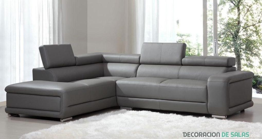 sofa polipiel en gris