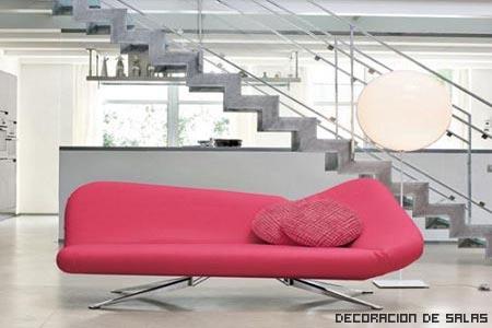 Sofá rosa moldeable
