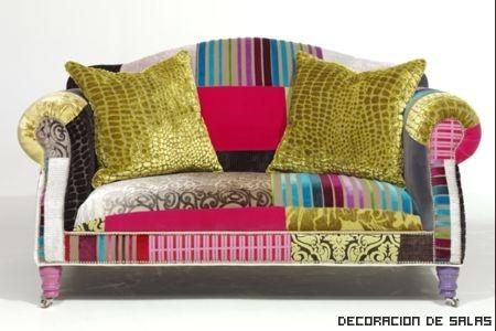 Muebles de colores y patchwork for Colores vintage para muebles