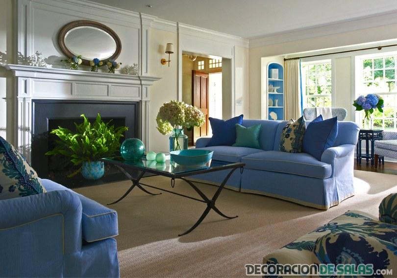 el sof azul para un sal n m s luminoso