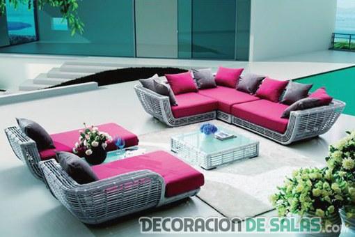 sofás de terraza en color