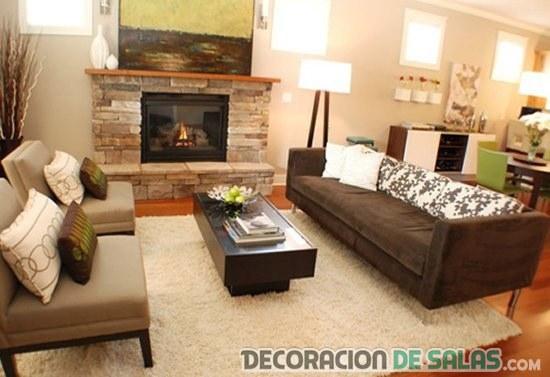 sofás en color marrón