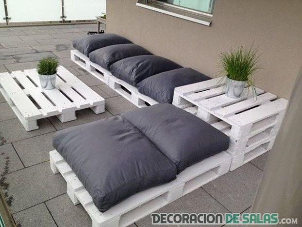 sofs exteriores de palets