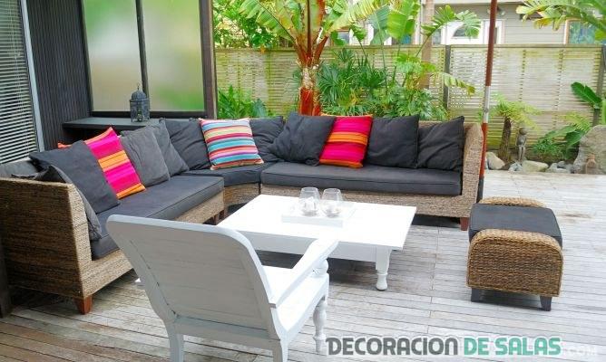 sofás para decoración exterior