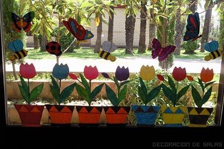 stickers flores ventana
