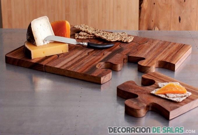 Tabla de madera puzzle - Decorar tabla madera ...