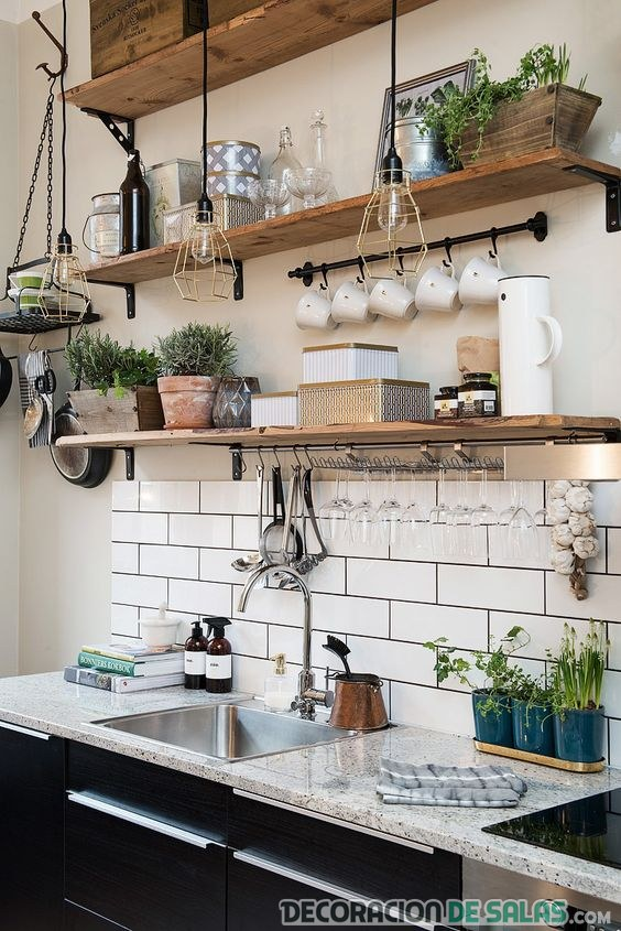 tablas estanterías para cocina