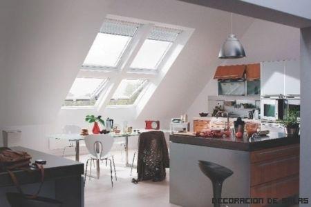 Decoración con techos bajos