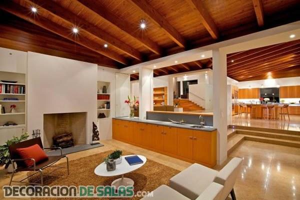 Los techos de madera y su belleza en los interiores for Terminaciones de techos interiores