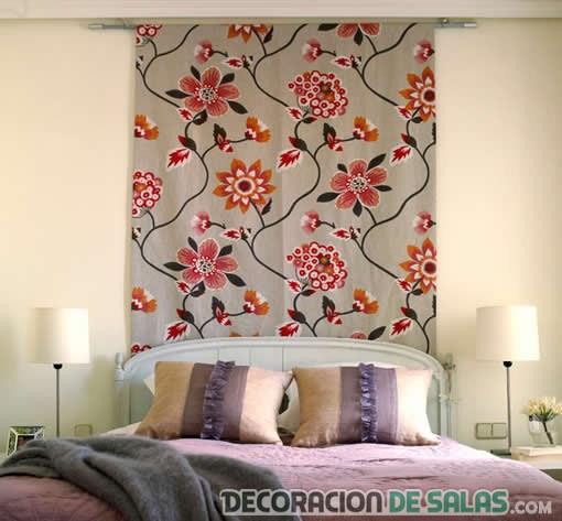 telas decorativas en dormitorio