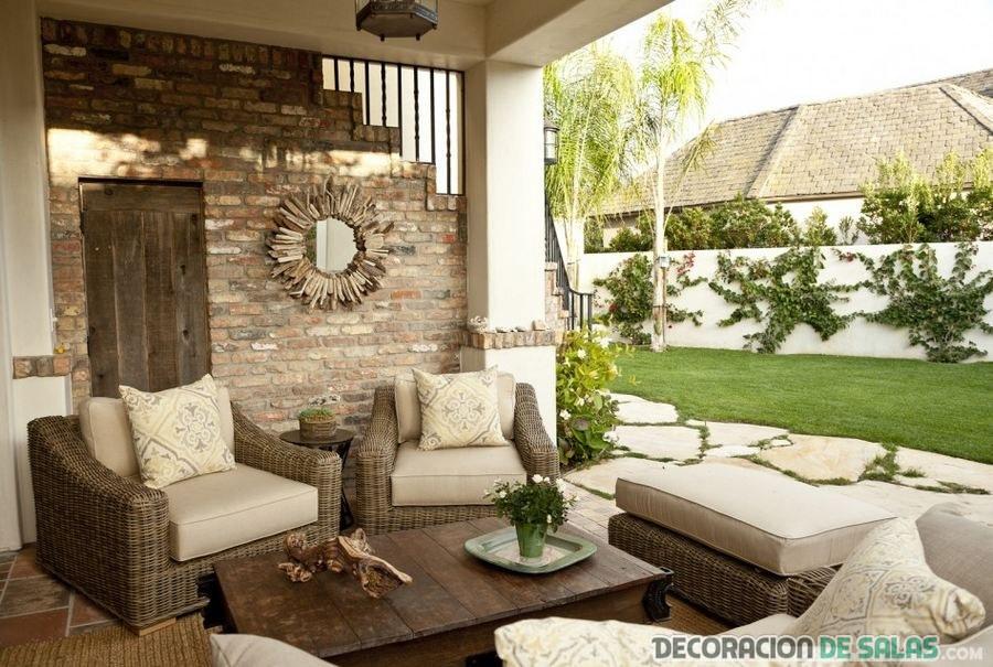 terraza elegante en marrón