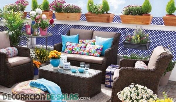 Dale color a la primavera desde la terraza