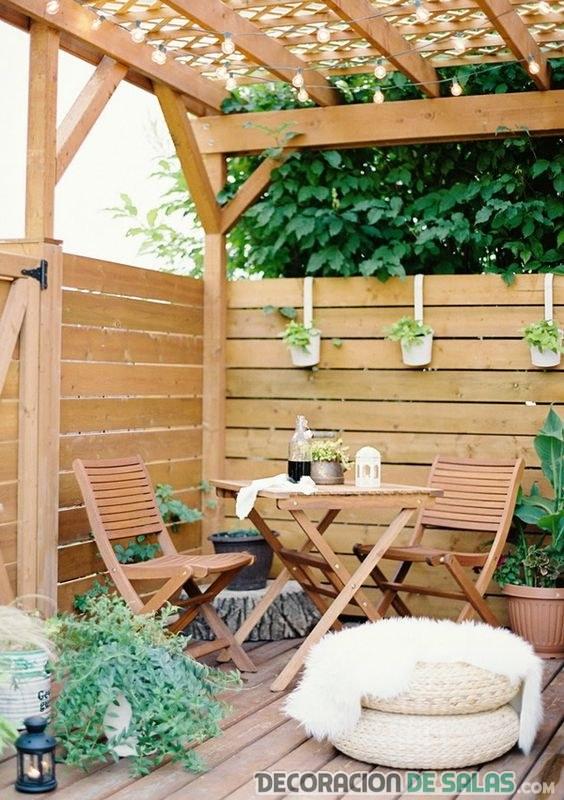 terraza madera nórdica