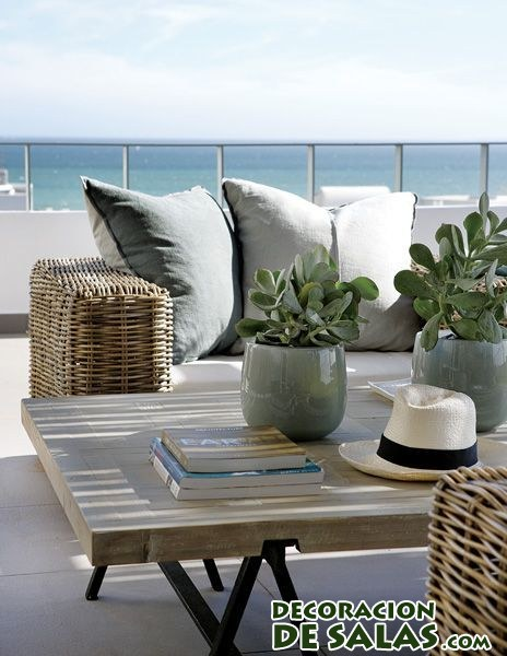 terraza otoñal en colores básicos