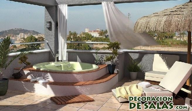 C mo decorar terrazas de manera relajante - Decoracion de terrazas pequenas exteriores ...