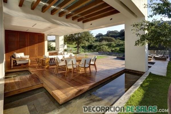 terraza sencilla con piscina