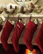 Decora la chimenea en Navidad