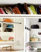 Ideas para guardar los bolsos
