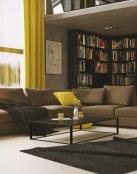 Preciosas salas con sofás en color marrón