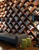 Bibliotecas en rincones del hogar