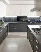 Ejemplos de cocinas en color gris