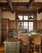 Cocina, salón y baño rústicos