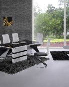 Comedores modernos en blanco y negro