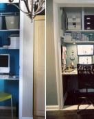 Aprovechando el espacio, despachos en el armario