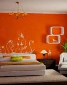 Habitaciones en color naranja