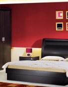 El color rojo también en los dormitorios de matrimonio
