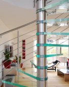 Escaleras de cristal para la decoración de interiores