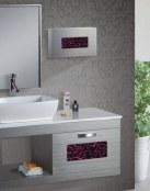 Preciosos lavabos que combinan la madera y el color