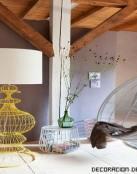 Muebles hechos con alambres