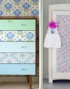 Renueva tus muebles decorándolos con papel o tela