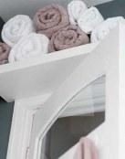 Ideas para organizar las toallas en el baño