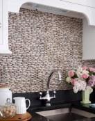 Decoración con paredes de piedra