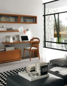 Salas modernas con escritorios integrados