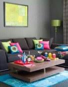 Integrando poco a poco el color en la decoración del salón