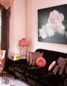 Elementos en color rosa para los salones