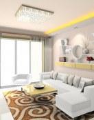 La belleza de los salones con sofás blancos