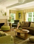 Salones combinados en verde y marrón