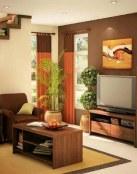 5 salones con paredes en marrón