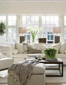 Relajantes salas y salones en color blanco