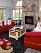 5 salones modernos con sofás en color rojo