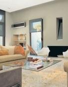 Naranja y gris, la mejor combinación para tu salón