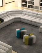 Unos sofás rinconeros de lo más modernos