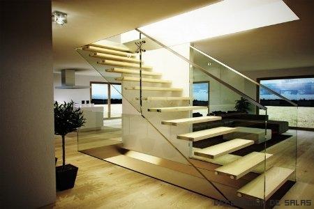 Decoraci n para la escalera for Escaleras modernas para espacios pequenos
