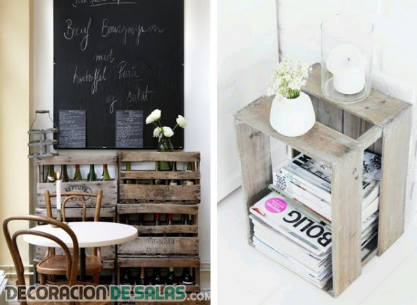 Decoraci n con cajas de madera for Tips decoracion de hogar