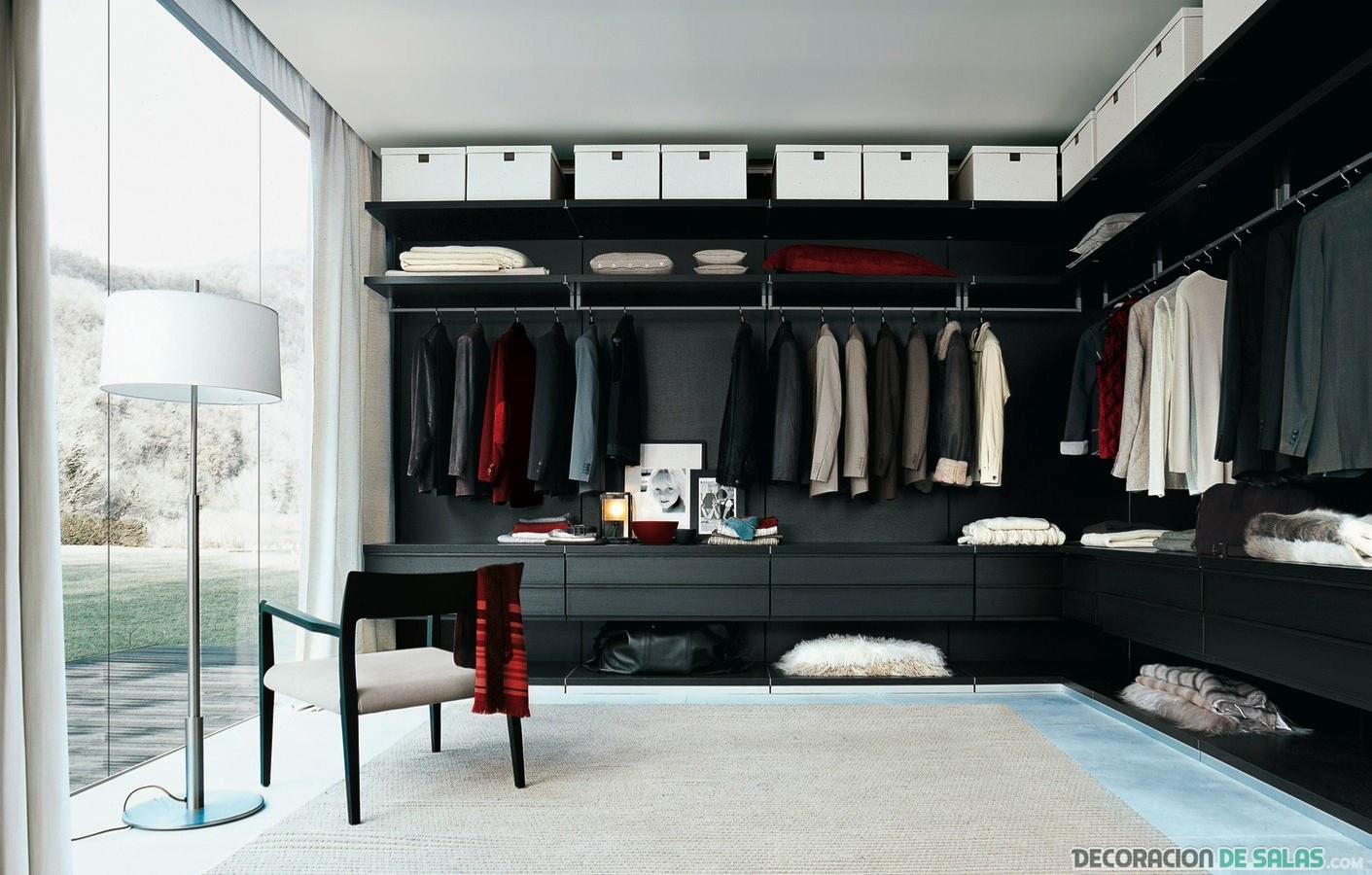 vestidor en color negro