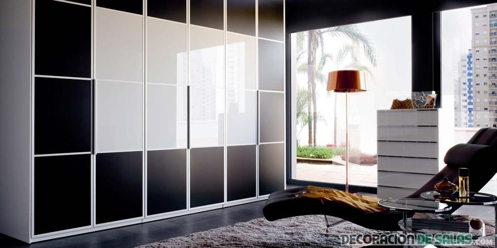 vestidor moderno con puertas